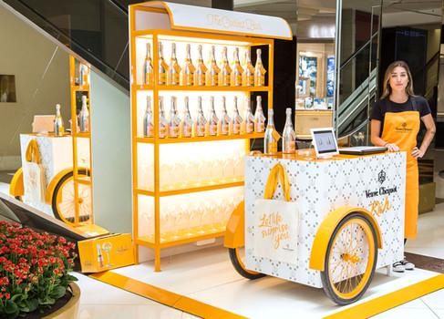 Veuve Clicquot abre pop up no Iguatemi São Paulo