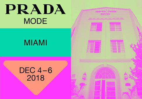 A Prada abre pop-up club em Miami durante a Art Basel