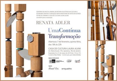 Renata Adler faz exposição-instalação na Casa de Cultura Laura Alvim