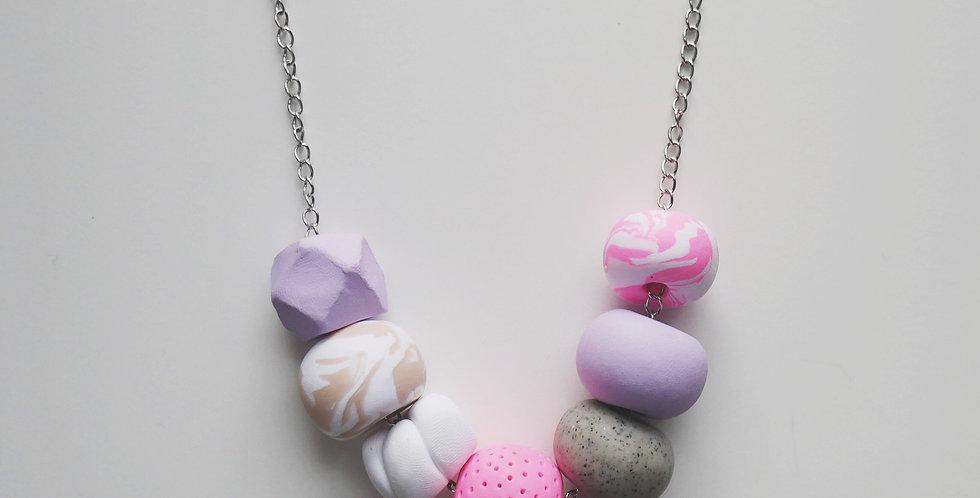 Blush 7 Bead Necklace
