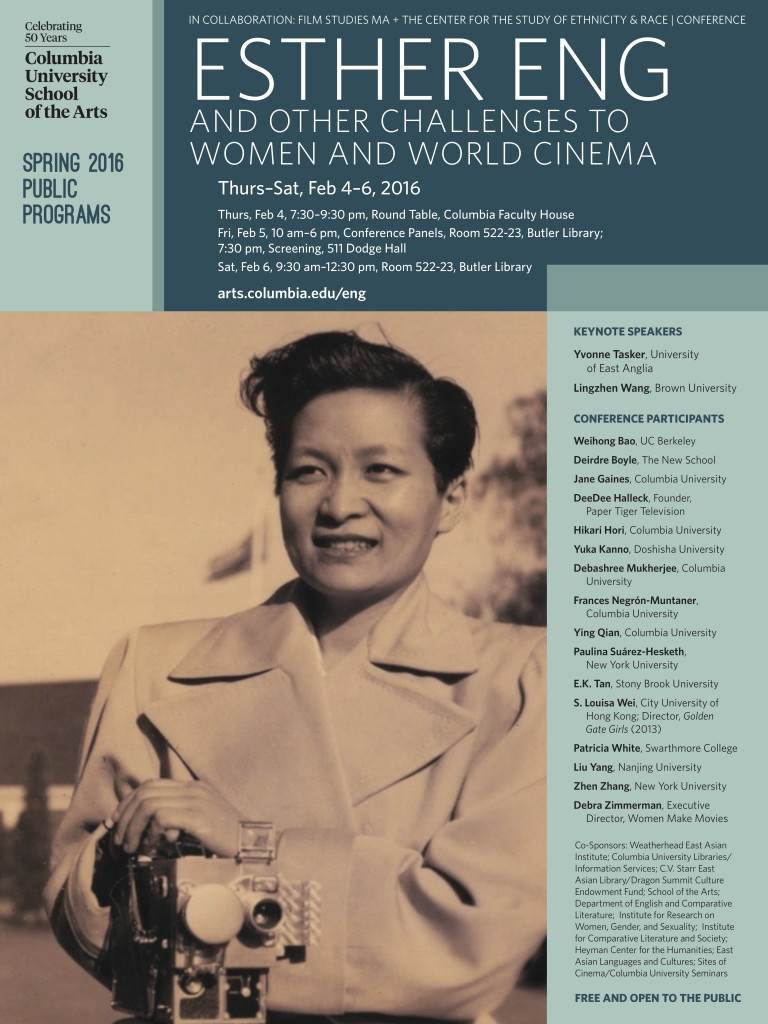 Esther Eng and Other Challenges to Women and World Cinema. Columbia University