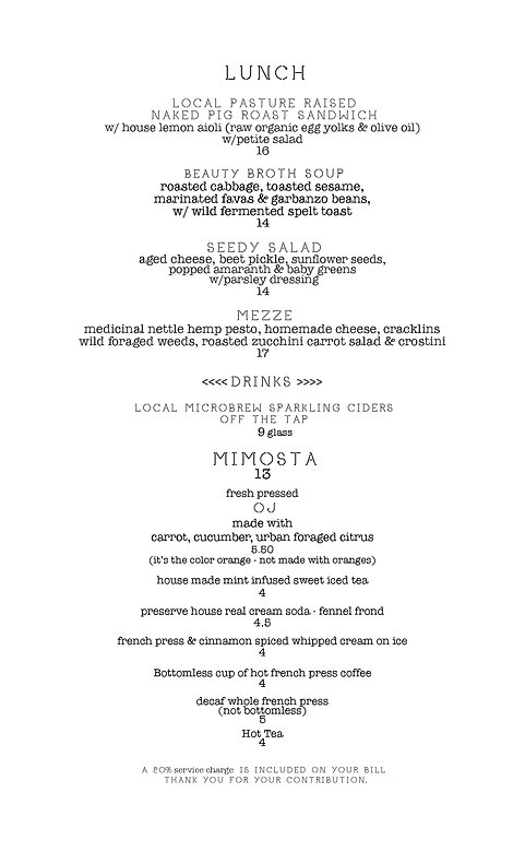 NP menu