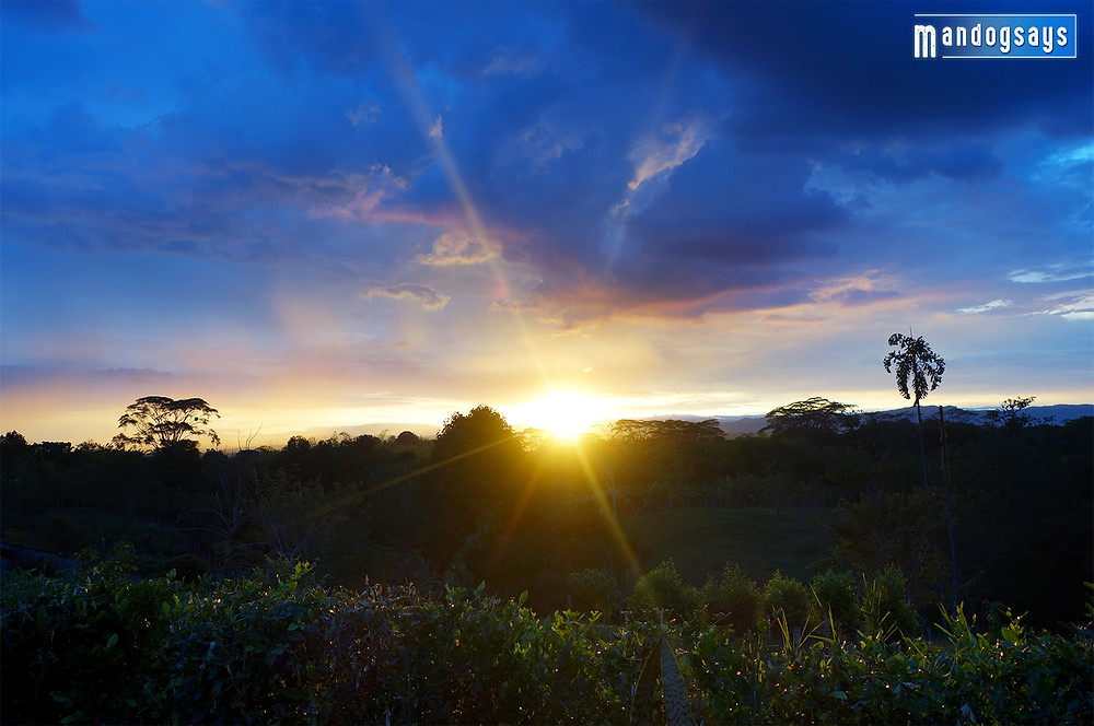sunset in quindio colombia