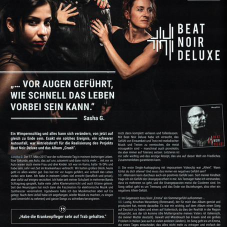 "Excellent Review of our album ""Crash"" and Interview in Orkus!"