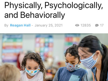 New Study Finds Masks Hurt Schoolchildren Physically, Psychologically, and Behaviourally