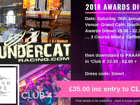 Further details about Next Year's ThunderCat UK AGM/Awards Dinner