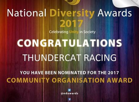 ThunderCat Racing Nominated for the National Diversity Awards 2017!