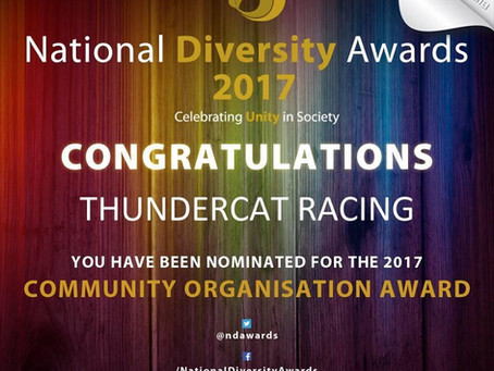 ThunderCat Racing Nominated for the National Diversity Awards 2017!