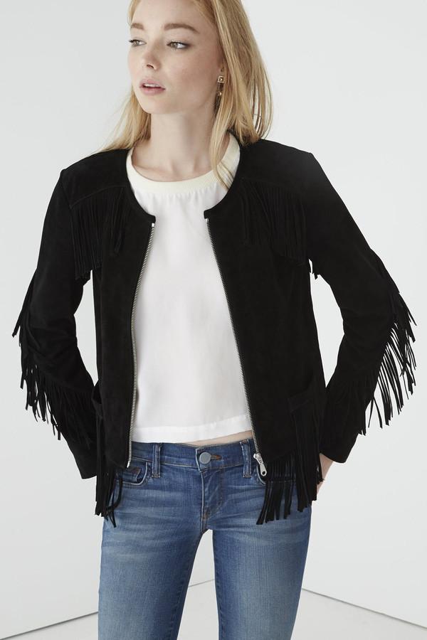 Trend Tuesday: Black Fringe Jacket