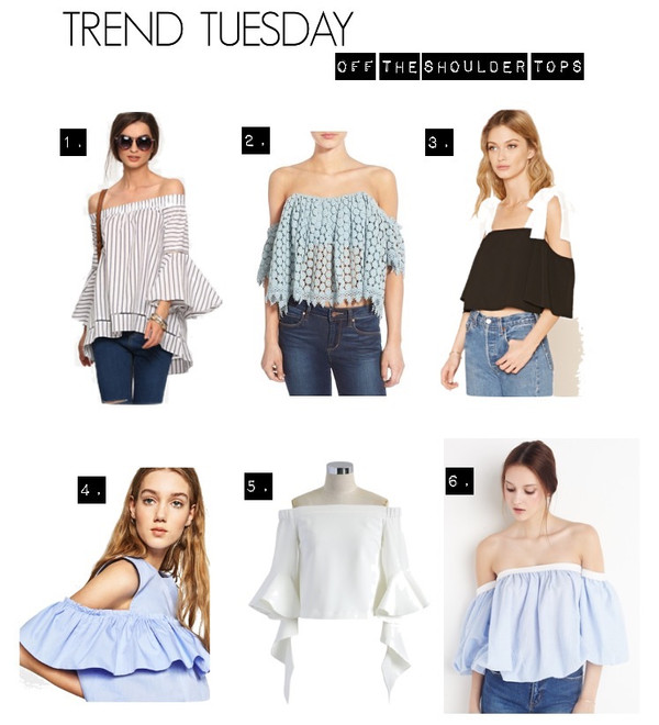Trend tuesday - off the shoulder tops