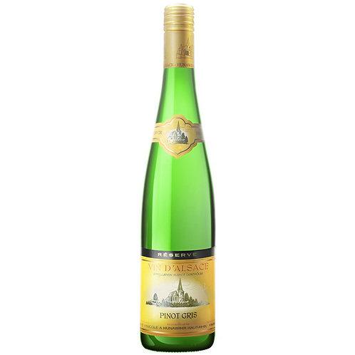Cave de Hunawihr Reserve Pinot Gris, Alsace, France  -Case of 6 Bottles