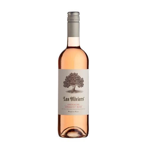 Les Oliviers Grenache Cinsault Rosé, Pays d'Oc, France - case of 6 bottles