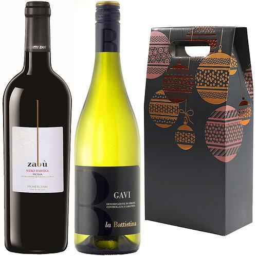Nero d'Avola & Gavi Christmas Gift Duo