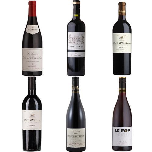 Taste of France - red mixed case of 6 bottles