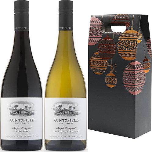 Auntsfield Single Vineyard Christmas Gift Duo