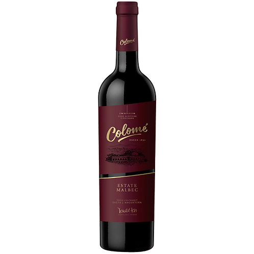 Bodega Colome Estate Malbec, Salta, Argentina 2017 - case of 6 bottles