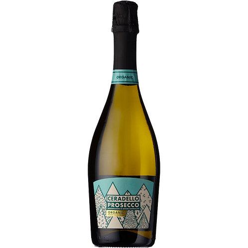 Organic Ceradello Prosecco Spumante Brut  NV - Case of 6 bottle