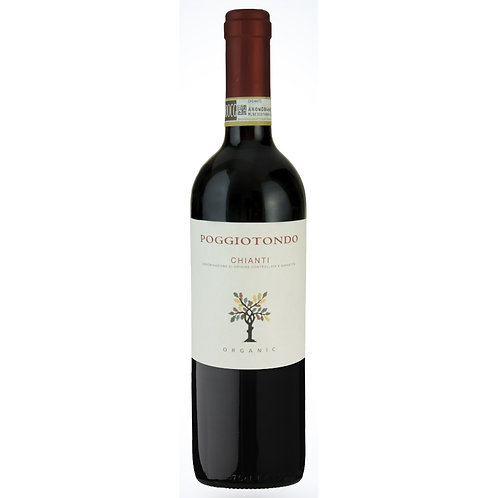 Organic Poggiotondo Chianti, Tuscany 2018 - Case of 6 Bottles