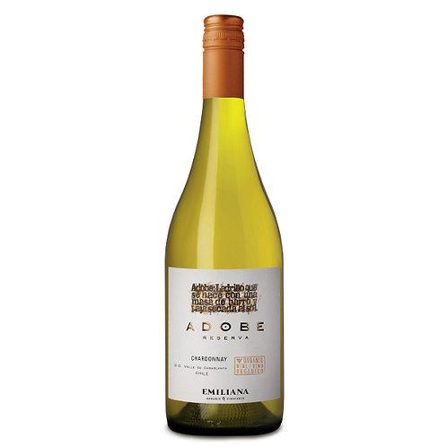 Organic Adobe Reserva Chardonnay, Casablanca Valley, Chile - case of 6 bottles