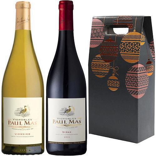 Paul Mas Syrah & Viognier Christmas Gift Duo