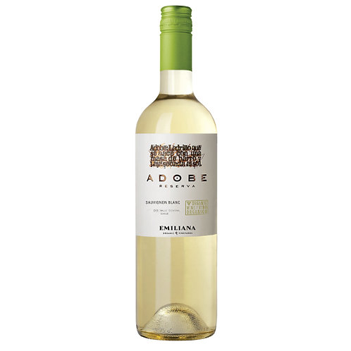 Organic Adobe Reserva Sauv. Blanc, Casablanca Valley, Chile - case of 6 bottles