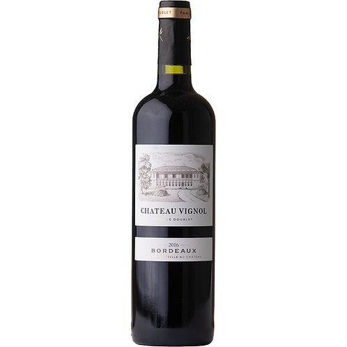 Château Vignol Bordeaux Rouge, France - case of 6 bottles