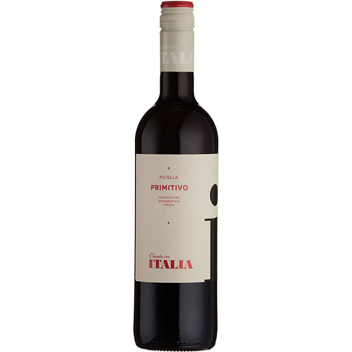 Italia Primitivo, IGT Puglia 2019 - case of 6 bottles