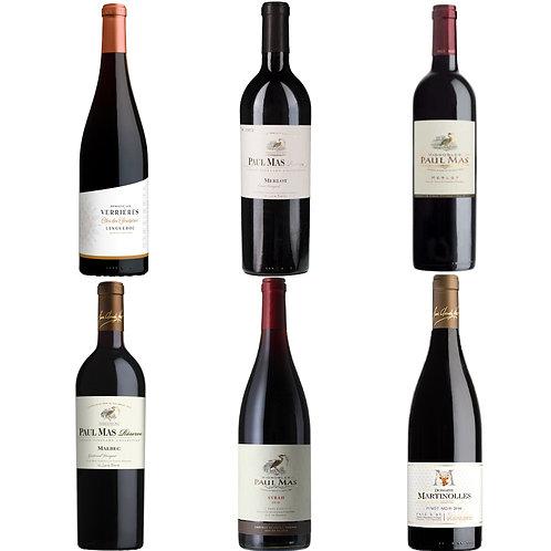 Paul Mas Winter Red Taster Selection-  Case of 6 bottles