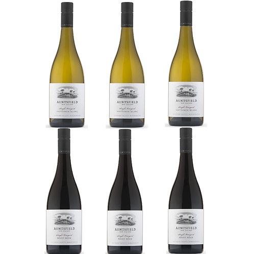 Auntsfield duo - Sauvignon Blanc & Pinot Noir - case of 6 bottles