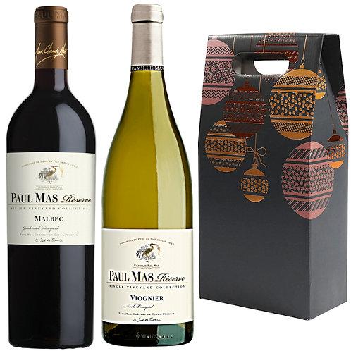 Paul Mas Reserve Malbec & Viognier Christmas Gift Duo
