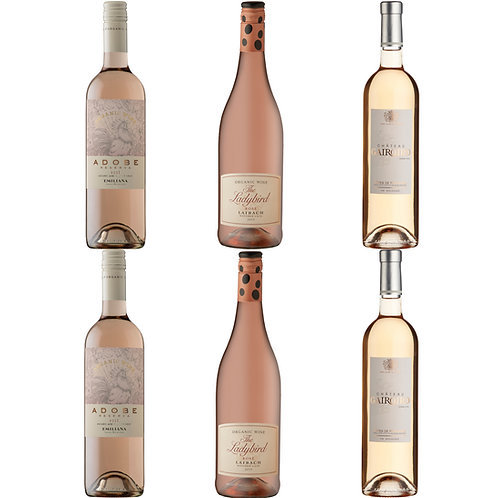 Organic Rosé Selection - case of 6 bottles