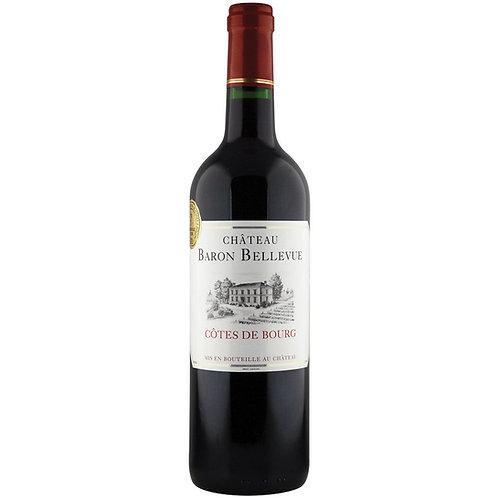 Château Baron Bellevue, Côtes de Bourg, Bordeaux 2014 - case of 6 bottles