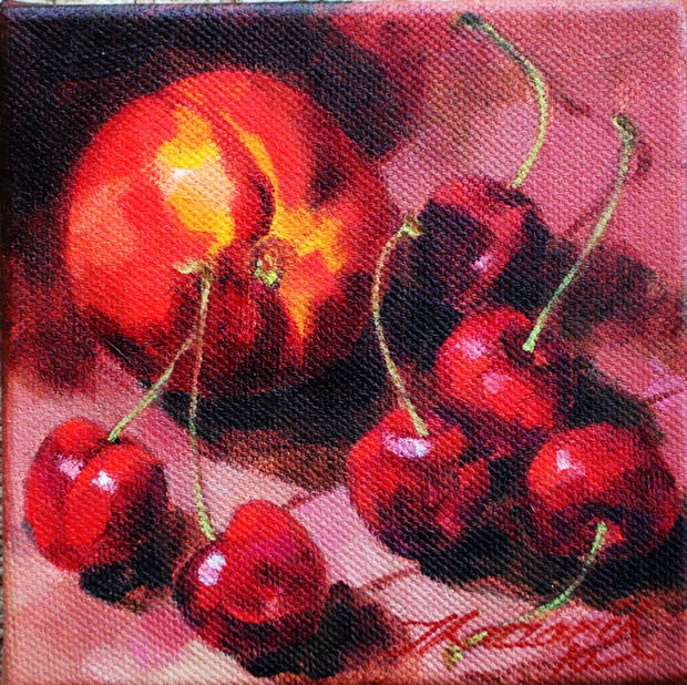 Nectarine and Cherries