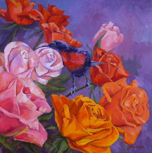 Roses and Sunbird