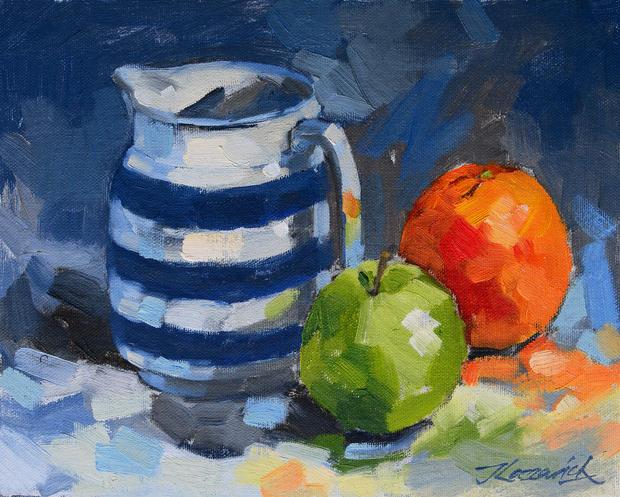 Blue Striped Jug