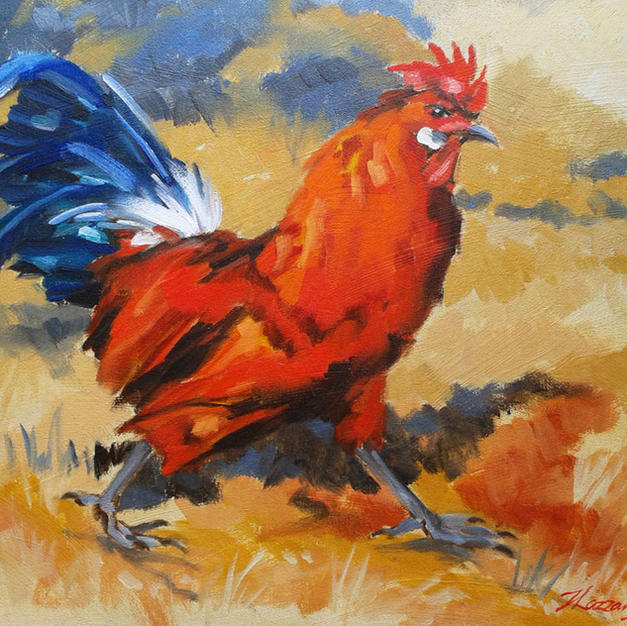 The Strutting Rooster