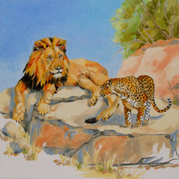 Luke the Lion and Lester the Leopard