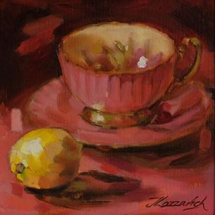 Pink Aynsley Teacup