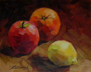 Apple Orange and Lemon No2