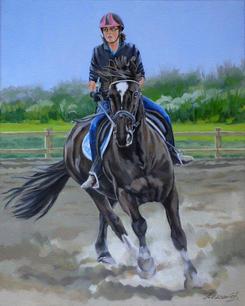 Zoe Parkinson riding Dylon