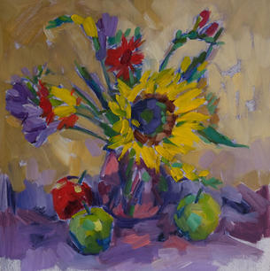 Sunflower and Apples