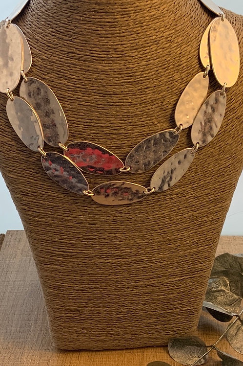 Hammered Oval Necklace