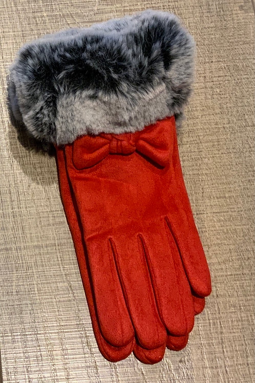 Red Bow Glove