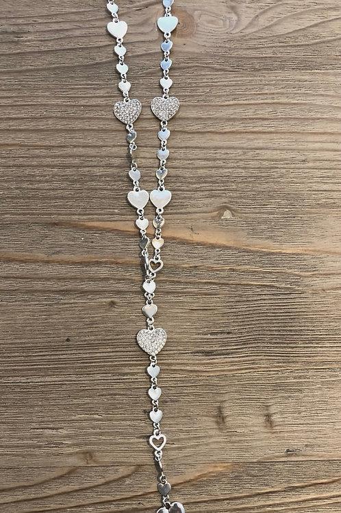Diamante Heart Long Necklace