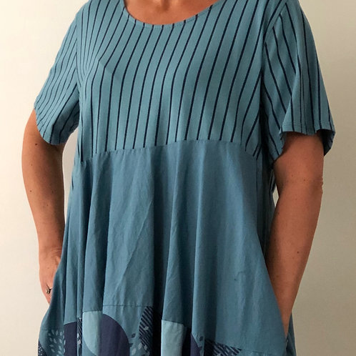 Blue Circle Dress