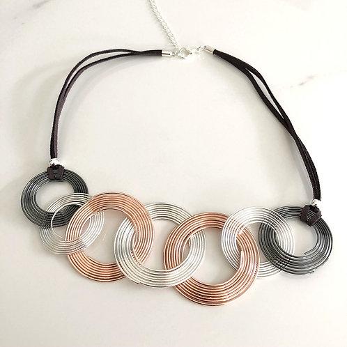 3 Colour Hoop Necklace