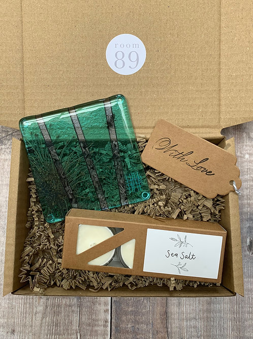 Glass Coaster Gift Box
