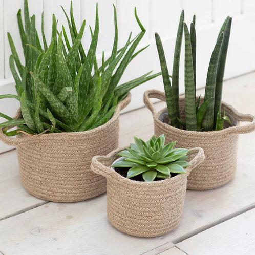 Woven Plant Pots - Set of 3