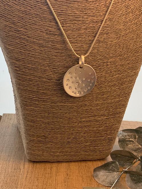 Diamonte Disc Necklace