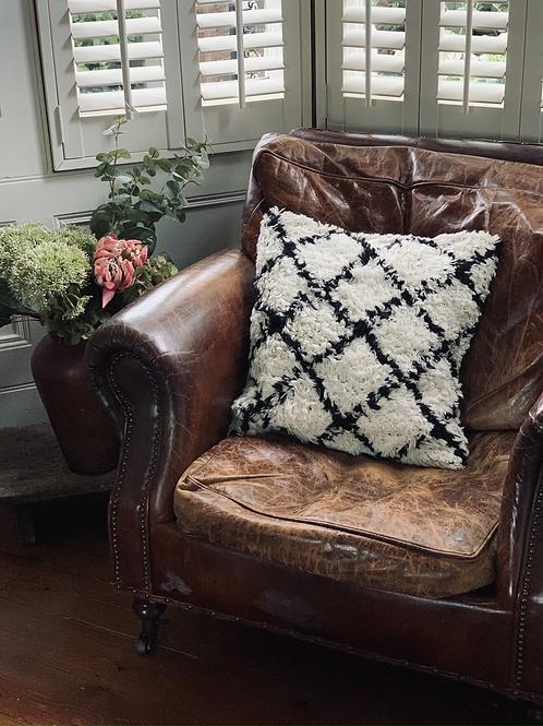 Black & White Berber Cushion
